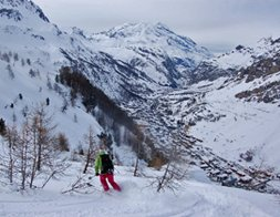freeride val d'Isère, Tignes, espace Killy