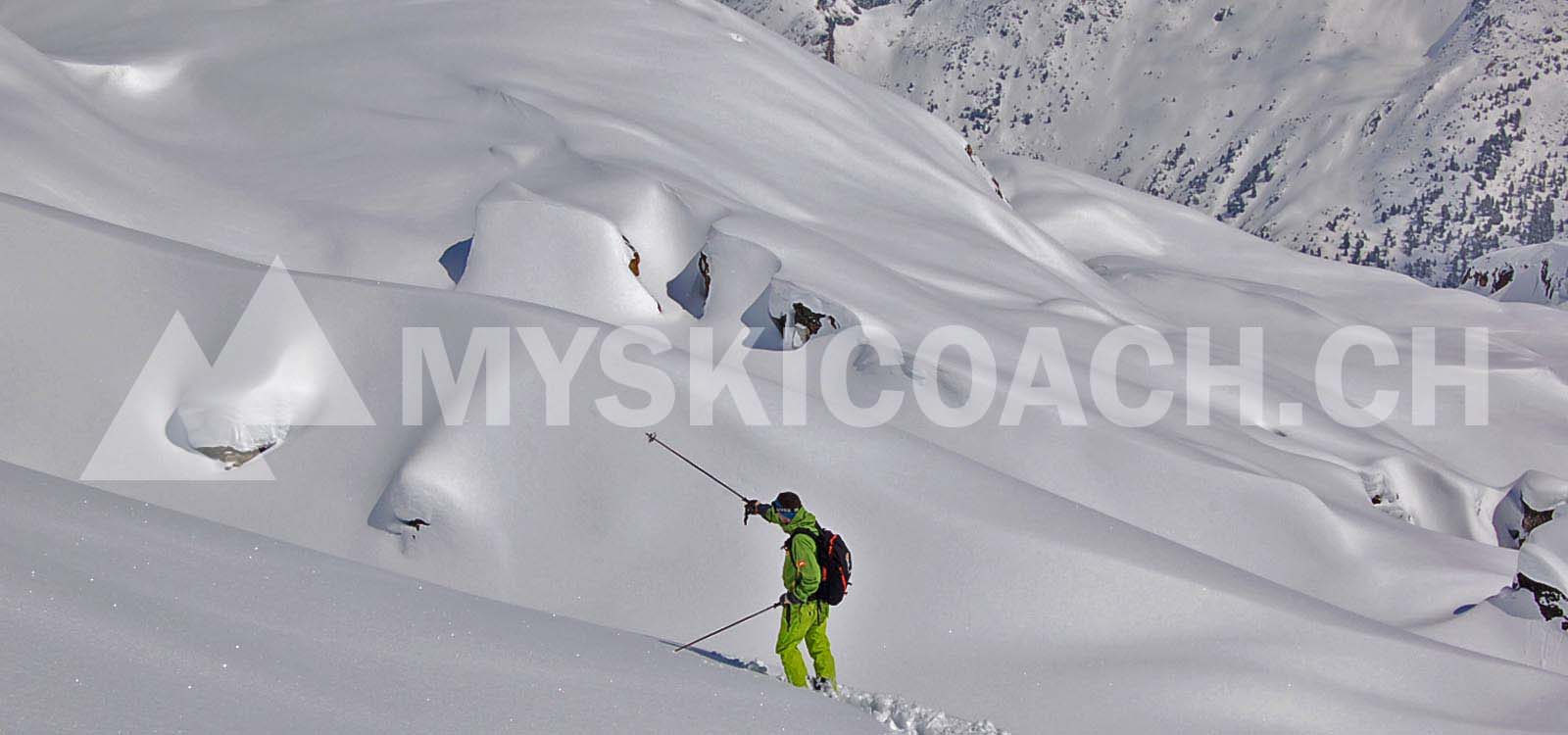 FREERIDE INSTRUCTION ¦ Private freeride lesson for adults ¦ MySkiCoach.ch