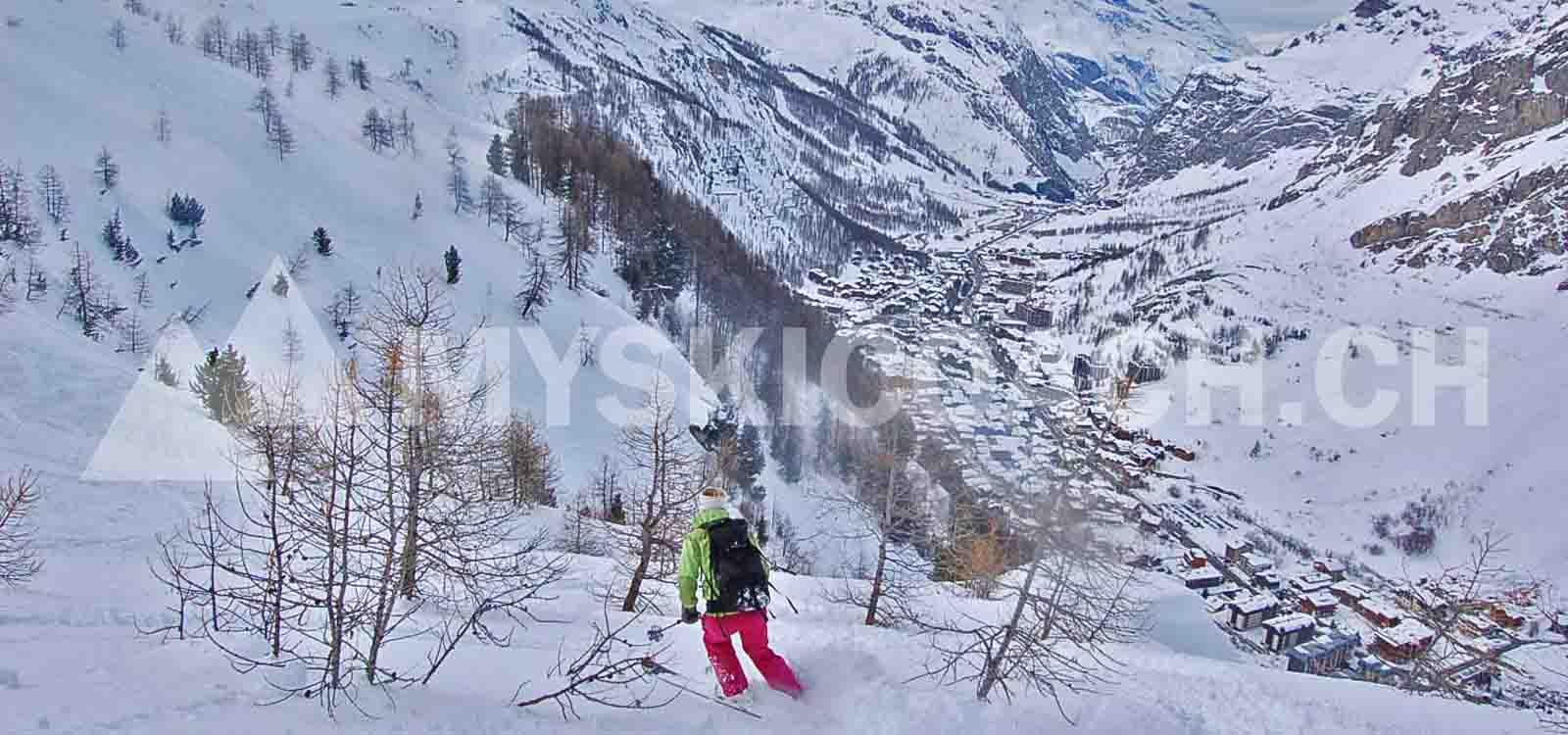 Freeride val d'Isère-Tignes-Espace Killy : Couloir du Lavancher