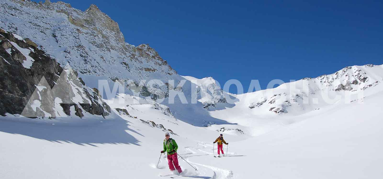 [:fr]MYSKICOACH.CH VALAIS-SUISSE. Cours de ski, formation freeride, hors-piste pour adultes et adolescents de niveau avancé[:en]MYSKICOACH.CH VALAIS-SWITZERLAND Ski, freeride instruction and off-piste private coaching for adults and teenagers from beginner to intermediate level. Aiming for autonomy while discovering new spots [:]